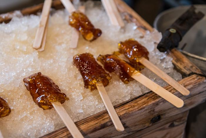 Maple Taffy, rolled for you in sugar shacks
